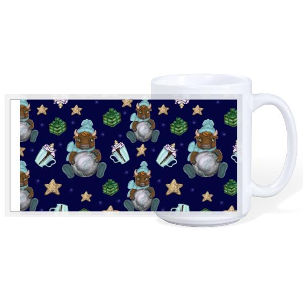 Christmas Cow - 15oz Ceramic Mug