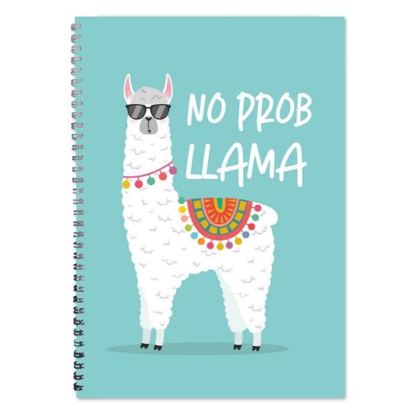 No Prob Llama A4 Lined Notepad