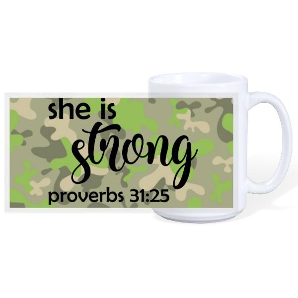 SHE IS STRONG - 15oz Ceramic Mug