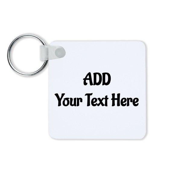 "2.25""x2.25""/57x57mm 2 Sided Gloss White Unisub - Key Chains - Square"