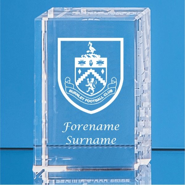 Burnley FC Personalised Crystal Rectangle