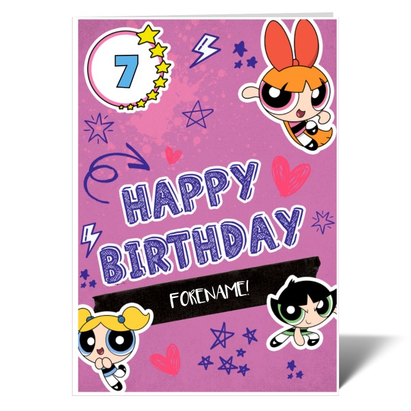 Powerpuff Girls Journal Birthday Card
