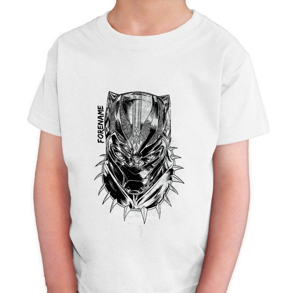 Marvel Black Panther Sketch Kids T-Shirt