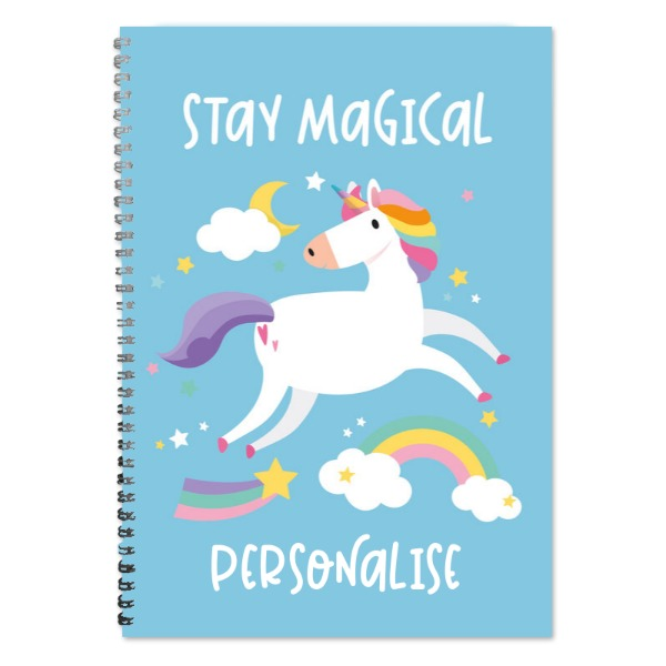 Personalised Unicorn A4 Lined Notepad