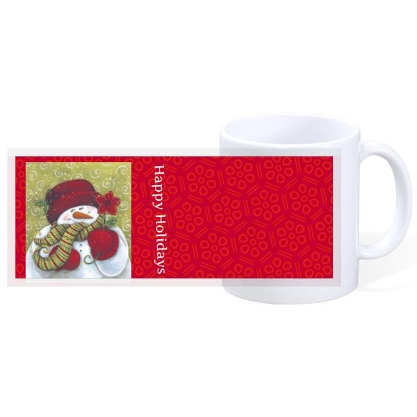 Happy Holidays Snowman M - 11oz Ceramic Mug