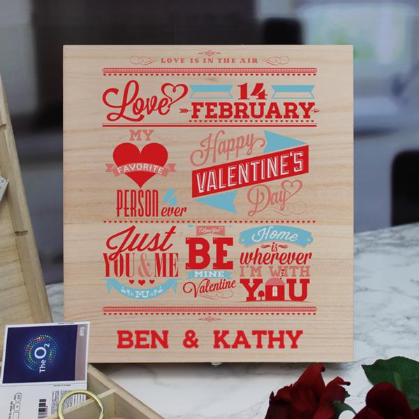 Be My Valentine 9 Compartment Keepsake Box