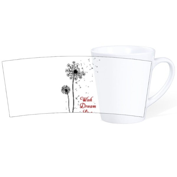 Wish, Dream, Live-Mug Ceramic Latte White 12oz