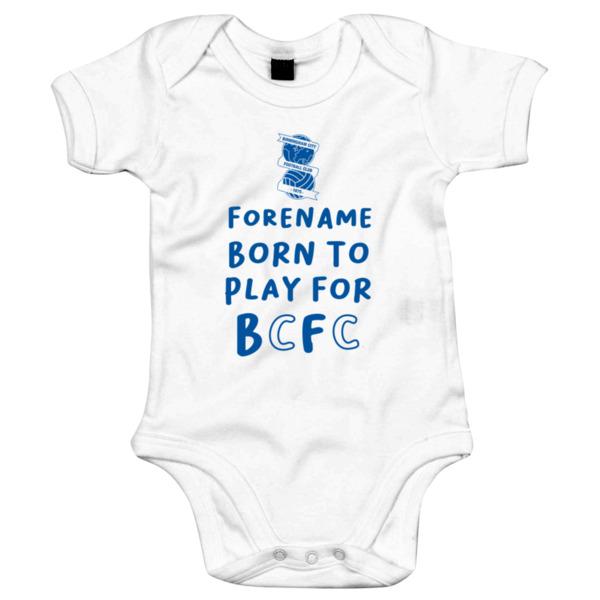 Birmingham City FC Born to Play Baby Bodysuit