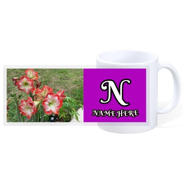 Flower custom mug - 11oz Ceramic Mug