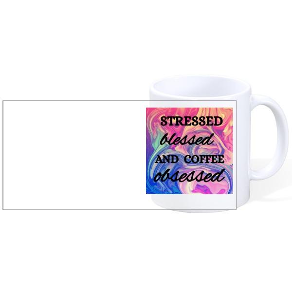 Stressed Blessed - Stessed Blessed - Mug Ceramic White 11oz