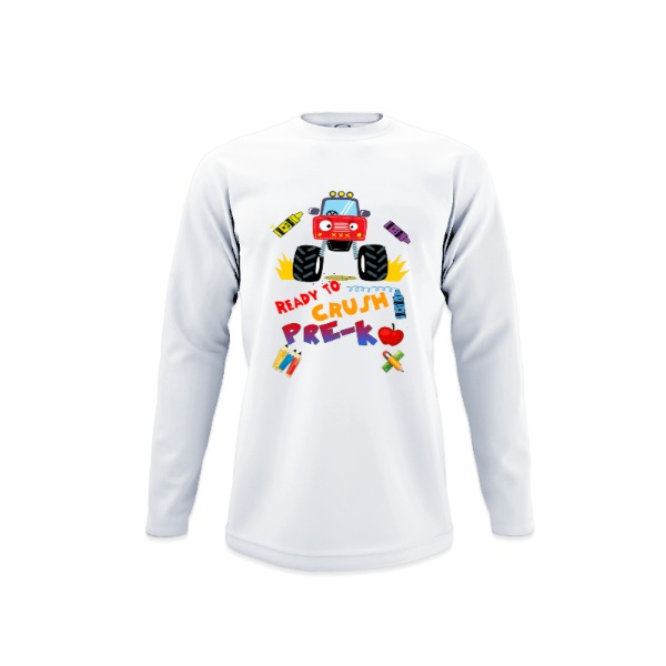 Ready to Crush Pre-K - Youth Solar Long Sleeve