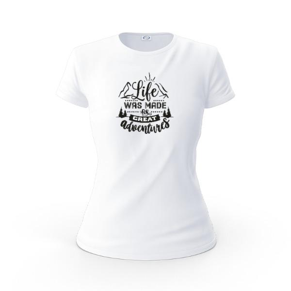 Life & Adventures - Ladies Solar Short Sleeve Small Print Area