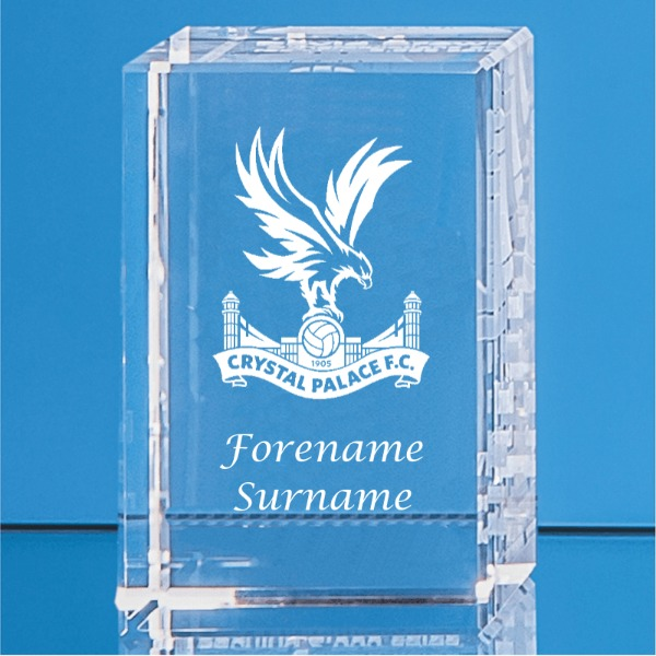 Crystal Palace FC Personalised Crystal Rectangle