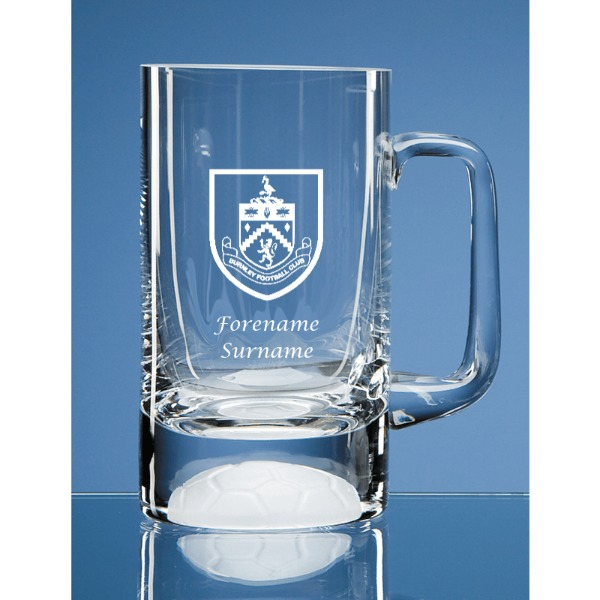 Burnley FC Personalised Crest Half Pint Ball Base Tankard