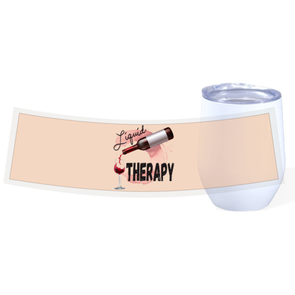 Liquid Therapy - Travel Wine Cup Stainless Steel White 12oz