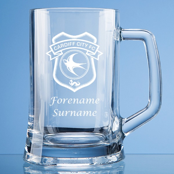 Cardiff City FC Crest Large Plain Straight Sided Tankard