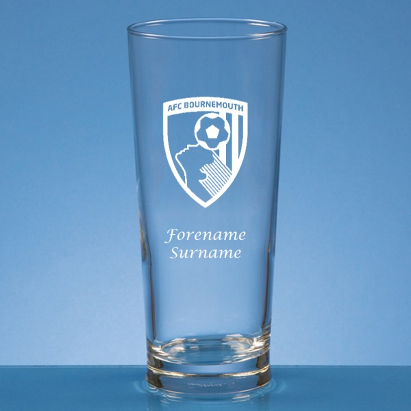 AFC Bournemouth Crest Straight Sided Beer Glass