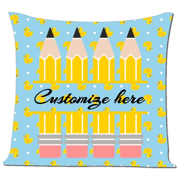 My Teacher's - Pillow Cover Polyester Canvas Square 40cm