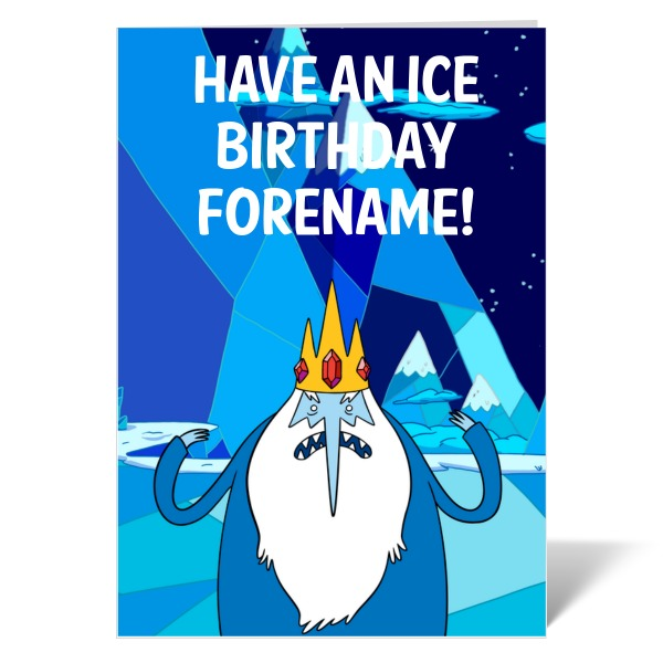 Adventure Time Ice King Birthday Card