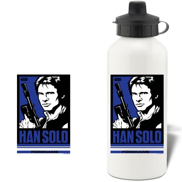 Star Wars Han Solo Pop Art Aluminium Water Bottle