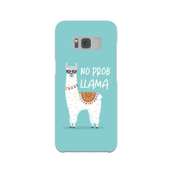 No Prob Llama Samsung Galaxy S8 Hard Back Phone Case