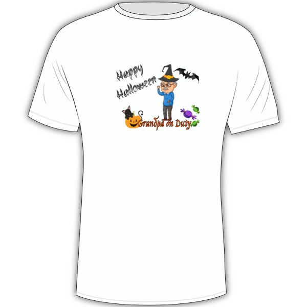 Halloween Granpa - Mens Solar Short Sleeve Large Print Area