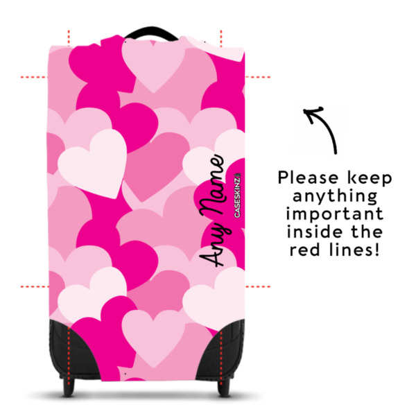 Pink Hearts - Caseskin - S