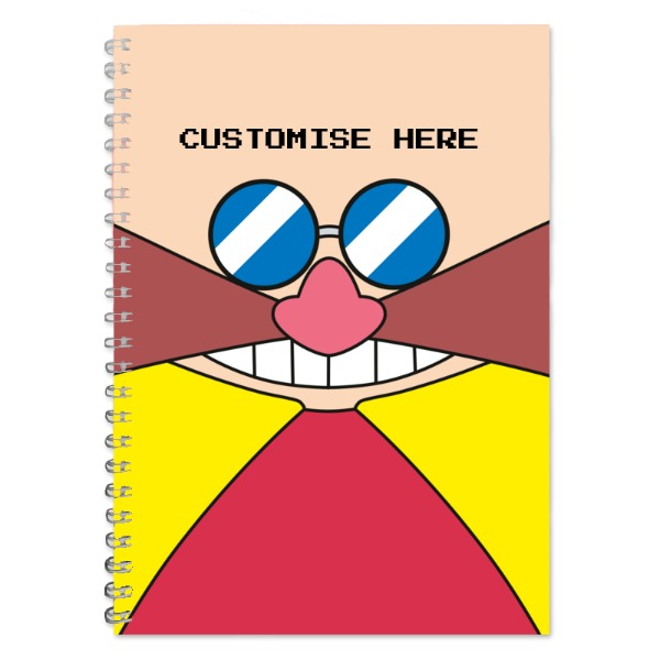 A5 Notebook - Eggman Face - Classic Sonic