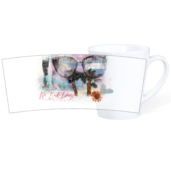 Mug Ceramic Latte White 12oz