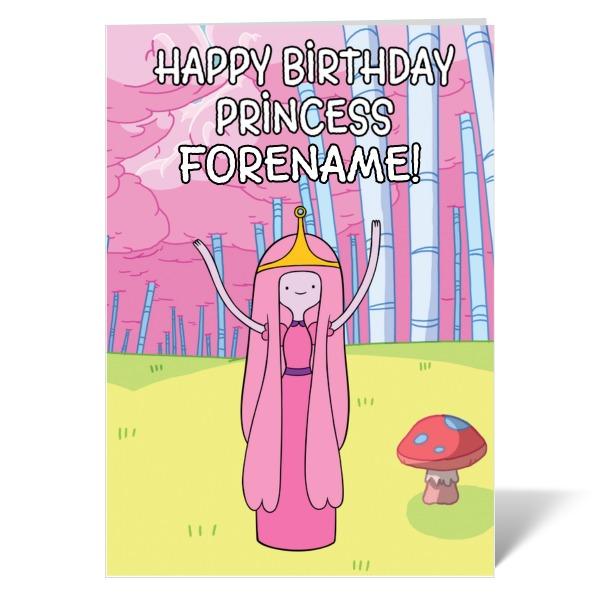 Adventure Time Princess Birthday Card