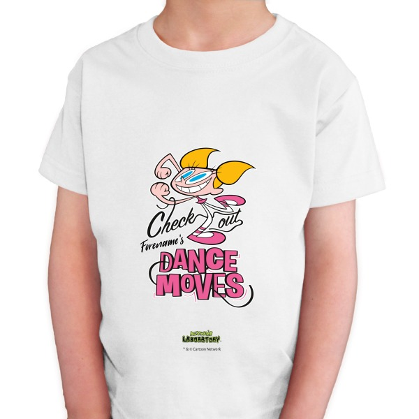 Dexter's Lab Dance Moves Kids T-shirt