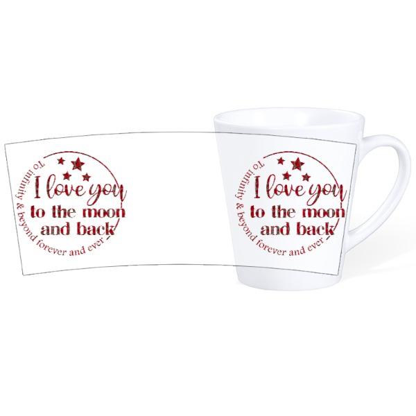 Mug Ceramic Latte White 12oz