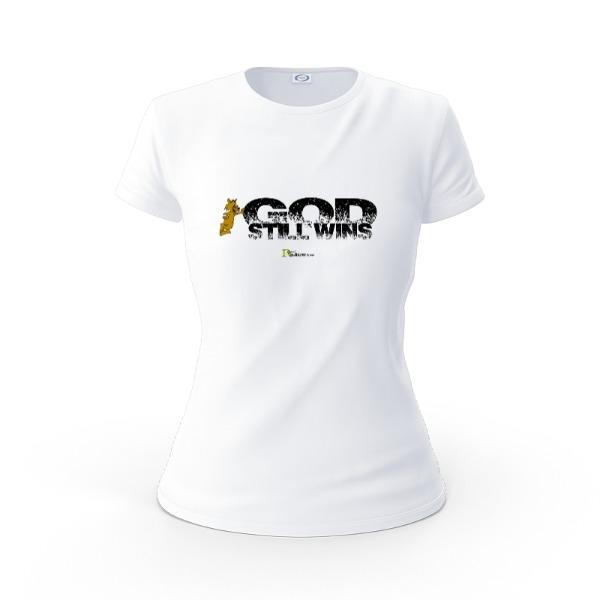 GOD Still Wins - Ladies Solar Short Sleeve Large Print Area