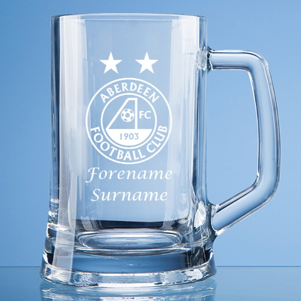 Aberdeen FC Personalised Crest Large Tankard