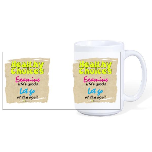 Healthy Choices - Mug Ceramic White 15oz