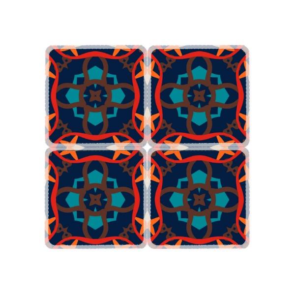 Abstract Coaster Set - Square Coaster Set