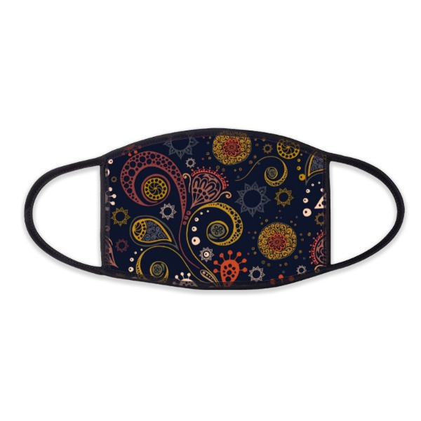 MaskMadness-Boho Black - Face Mask- Large