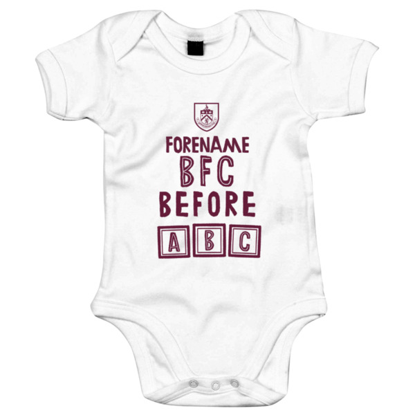Burnley FC Before ABC Baby Bodysuit