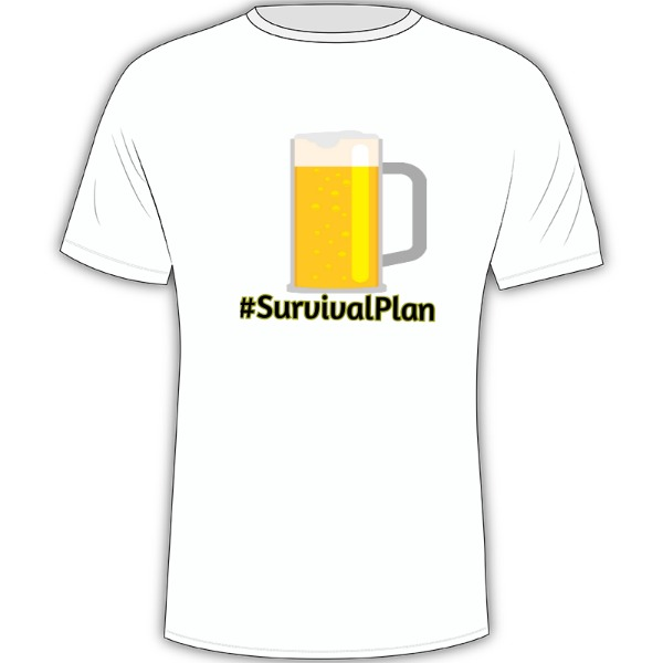#SurvivalPlan - Mens Solar Short Sleeve Large Print Area