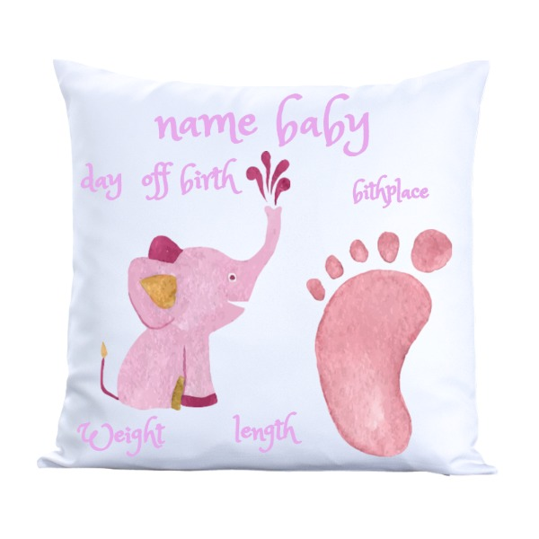 baby girl pillow  - Pillow Cover Polyester Canvas Square 40cm
