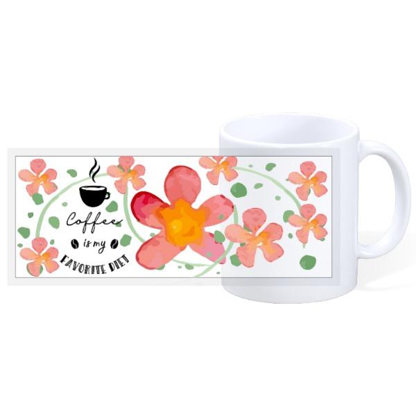 Coffee is my fav diet - 11oz Ceramic Mug