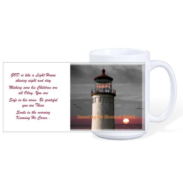 God's Lighthouse - Mug Ceramic White 15oz