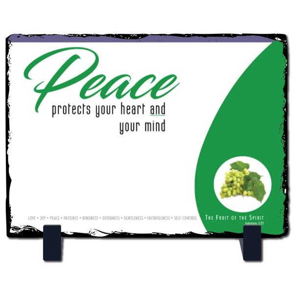 Peace Slate Panel - Slate Photo Panel Stone Rectangle
