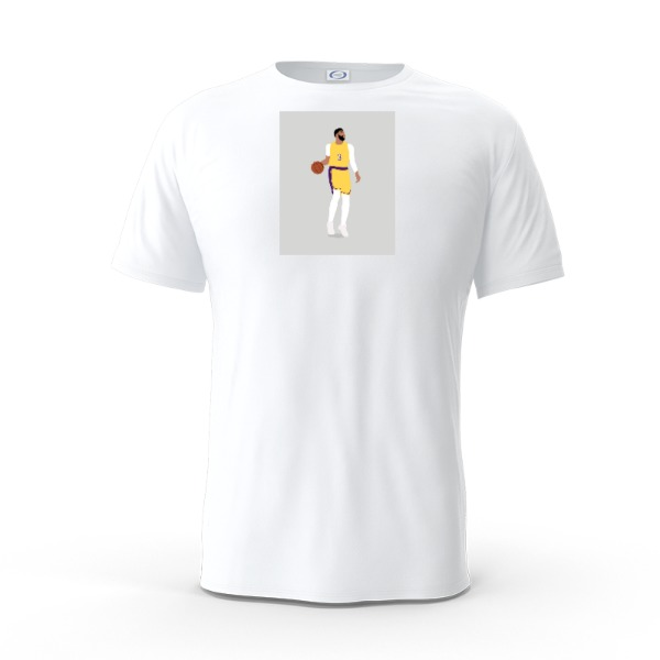 Anthony Davis Lakers Shirt - Mens Solar Short Sleeve Small Print Area