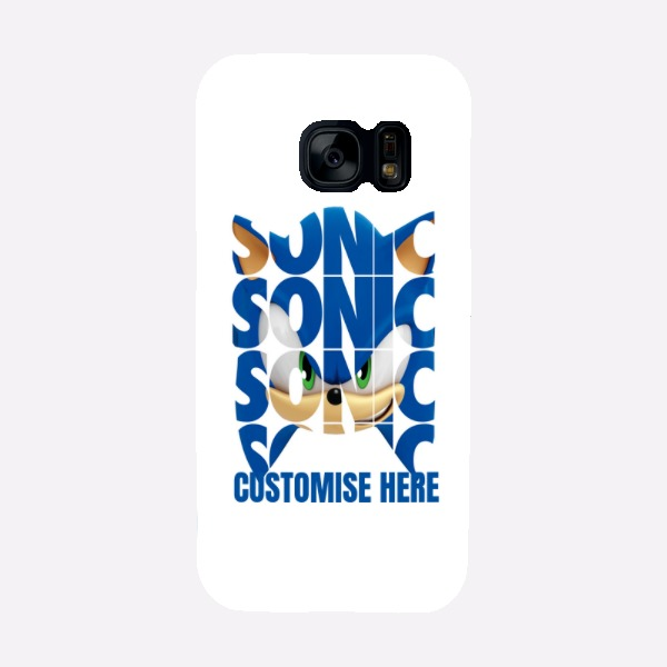 Samsung Galaxy S7 Phone Case - Sonic Text - Modern sonic