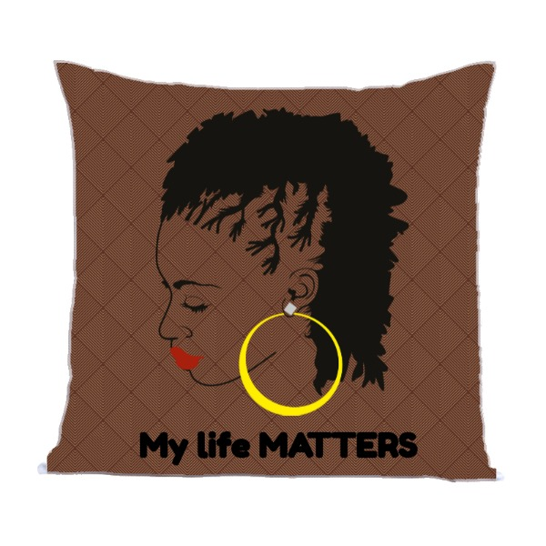 My Life - Pillow Cover Polyester Canvas Square 40cm