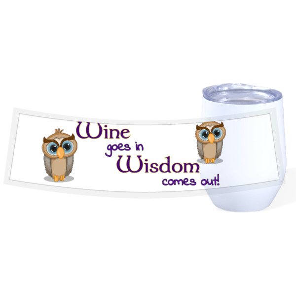 Wine & Wisdom Wine cup - Travel Wine Cup Stainless Steel White 12oz