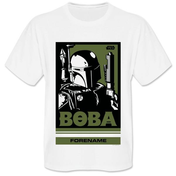 Star Wars Boba Pop Art Mens T-shirt
