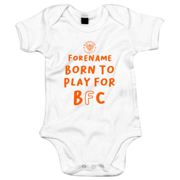 Blackpool FC Born to Play Baby Bodysuit