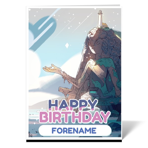 Steven Universe Title Card Birthday Card